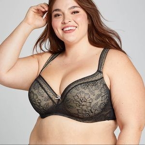 Cacique Modern Lace Lightly Lined Balconette Bra